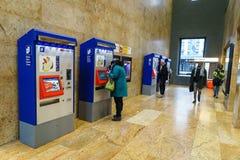 The SBB CFF FFS ticket machine. Royalty Free Stock Photos