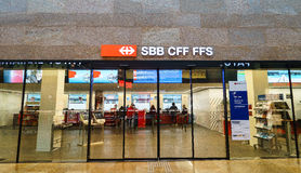 SBB CFF FFS tiket shop Royalty Free Stock Image