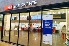 SBB CFF FFS tiket shop Royalty Free Stock Photo