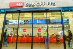 SBB CFF FFS tiket shop Royalty Free Stock Photos