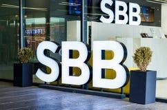 SBB-filiaal in Belgrado, Servië Bureau van het de kabeltelevisiebedrijf van Servië het Breedband royalty-vrije stock fotografie
