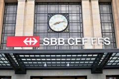 SBB logo, Geneva railway station Royalty Free Stock Photo