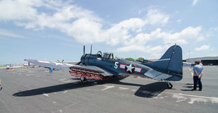 SBD-5 Douglas Dauntless Dive Bomber Stock Image