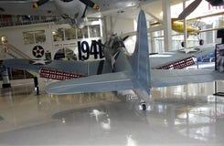 SBD Onverschrokken bij Zeeluchtvaartmuseum stock foto's