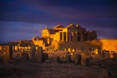 Sbeitla, Тунис - римские руины в Sbeitla стоковое изображение