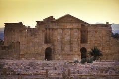Sbeitla, Tunisia - Roman ruins in Sbeitla stock photos