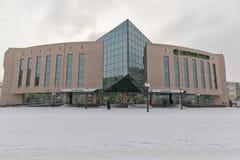 Sberbank大办公室位于大厦玻璃和浓缩 免版税库存图片