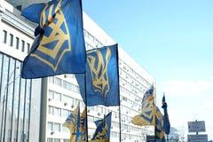Sberbank Войска стоят предохранитель против протестующих Стоковая Фотография