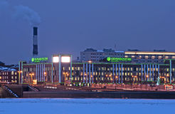 Sberbank of Russia. North-West Branch. Saint-Petersburg. Russia. SAINT-PETERSBURG, RUSSIA, JANUARY 15, 2015: Sberbank Rossii (Sberbank of Russia) - the largest Royalty Free Stock Photo