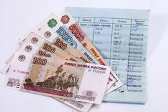 Sberbank of Russia. Passbook. Russian rubles Royalty Free Stock Photography