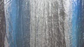 Sbiadire il tessuto di alluminio del panno con colore blu Fotografia Stock Libera da Diritti