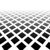 Sbiadire mosaico dei quadrati Modello di sparizione nella prospettiva illustrazione di stock