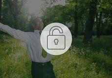 Sblocchi Freedeom libero liberano il concetto sbloccato Immagine Stock