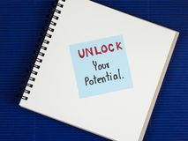 Sblocchi il vostro potenziale 3 Fotografia Stock Libera da Diritti