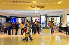 Sbocchi dei prodotti di cura di bellezza, Hong Kong Immagini Stock