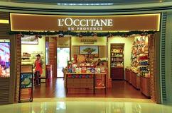Sbocco dei cosmetici di Loccitane Fotografia Stock