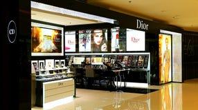 Sbocco dei prodotti di cura di bellezza di Dior Fotografie Stock Libere da Diritti