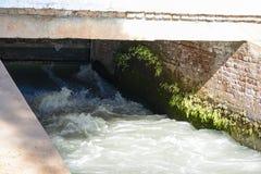 Sbocco del canale di collegamento dal canale del ramo di Mohajir Fotografie Stock Libere da Diritti