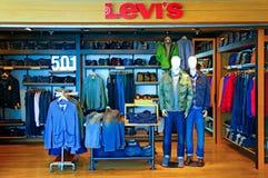 Sbocco di Levi's 501 Fotografia Stock