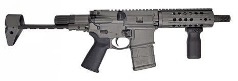 SBR AR15/M16 с складным запасом, 7 бочонок 5 ` и 20rd mag стоковое фото rf
