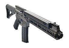 SBR AR15 med den suppresed 6 tum trumman Arkivbild