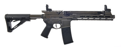 SBR AR15 med den suppresed 6 tum trumman Royaltyfria Foton