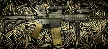 SBR AR 15 Royalty Free Stock Images