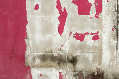 Sbucciatura del colore dipinta sulla parete Immagini Stock