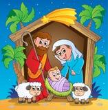 Scène 3 van de Geboorte van Christus van Kerstmis Stock Afbeelding