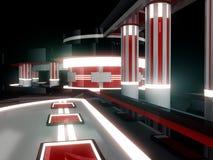 Scène 3d électronique (abstrait) illustration de vecteur