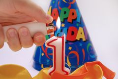 Scène 5 van de verjaardag Royalty-vrije Stock Fotografie