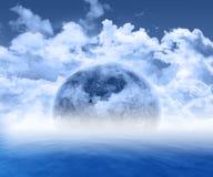 Scène abstraite de la planète 3d illustration libre de droits