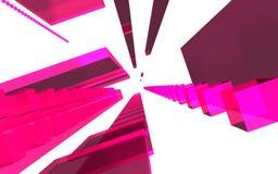 Scène abstraite, structure futuriste colorée Images libres de droits