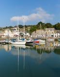 Scène anglaise de port en été Padstow les Cornouailles du nord Angleterre R-U Photos libres de droits