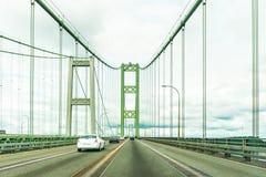 Scène au-dessus du pont en acier d'étroits à Tacoma, Washington, Etats-Unis Image stock