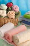 Scène avec des serviettes de bain Image libre de droits