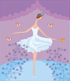 Scène avec la ballerine de danse Photo libre de droits