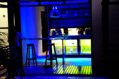 Scène binnen nachtclub Stock Fotografie