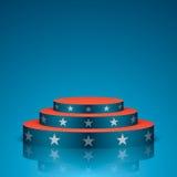 Scène bleue avec les étoiles blanches Photo stock