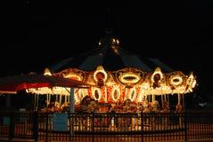 Scène Boca Raton de nuit de carrousel Image libre de droits