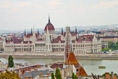 Scène in Boedapest, Hongarije Stock Afbeelding