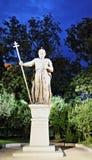 Scène bulgare Sofia de nuit de monument de roi Image libre de droits