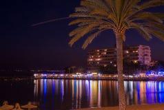 Scène Cala Estancia de nuit Image libre de droits