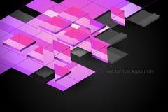 Scène carrée de graphiques de mouvement de forme Photo stock