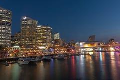 Scène chérie de nuit de port Photo stock