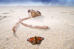 Scène colorée de plage Photos stock