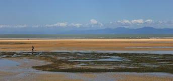 Scène colorée de plage dans Marahau Photo libre de droits