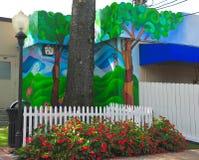 Scène colorée de rue sur Madison Avenue à Memphis, Tennessee Image stock