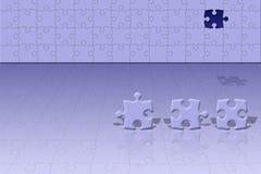 Scène conceptuelle de puzzle Images libres de droits