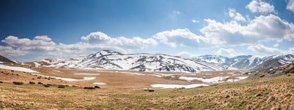 Scène couronnée de neige de montagne Photos stock